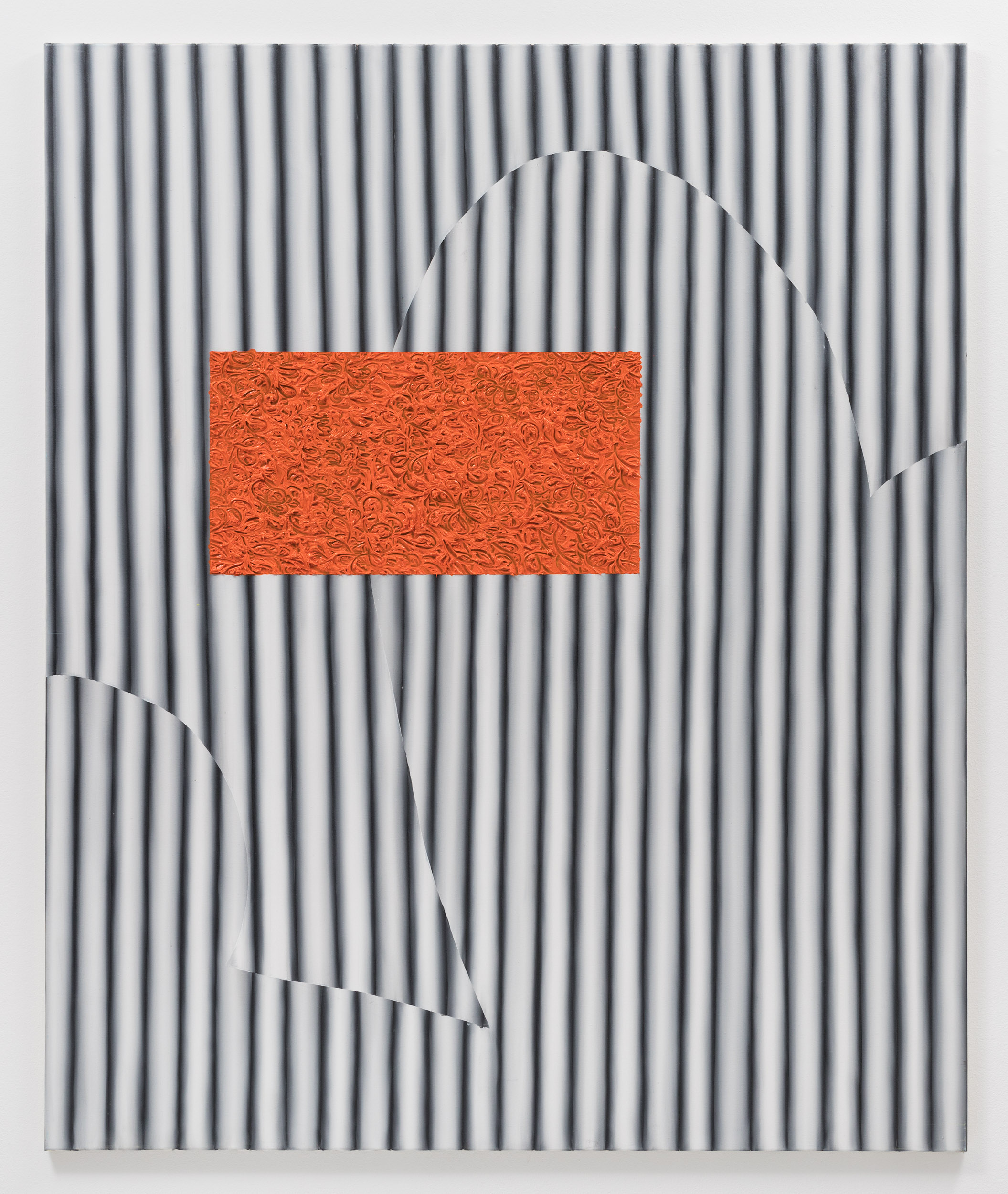 BlackOrange, 2018, 180x150cm, Öl auf Leinwand