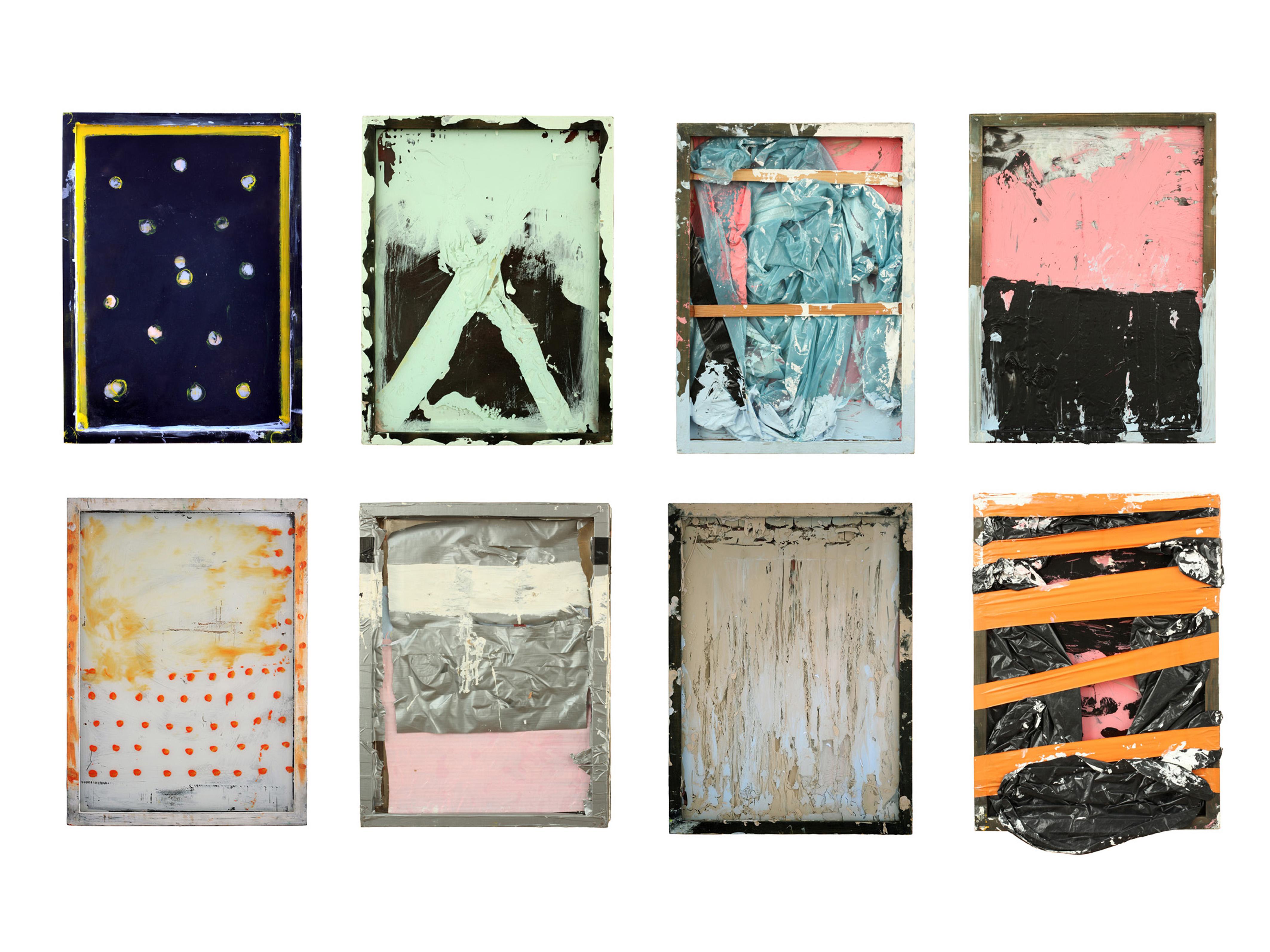 Dani, Richard, Mary, Junus, Linda, Sascha, Cornelia, Laura,  2012, mixed media, je 57 x 48 cm
